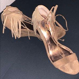 Short wedge heels